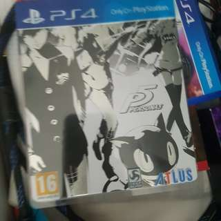 Persona 5 PS4 steelbook edition