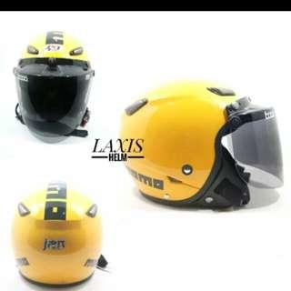 Helmet bogo momo yellow flat visor