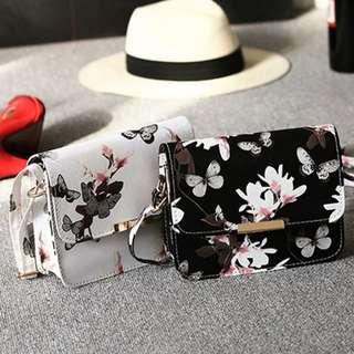 Butterfly floral cute slingbag/handbag
