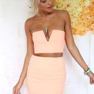 Sabo skirt orange set