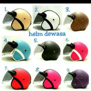 Helmet bogo flat visor