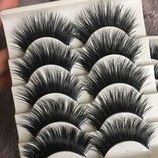 5Pairs/Set Natural Black Long Fake Eye Lashes Handmade Thick False Eyelashes