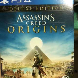 PS4 Game Assassin's creed origins deluxe edition (NO TRADE)