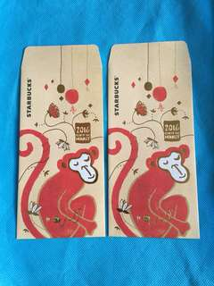 Collection of Monkey AngPow Pack from Starbucks