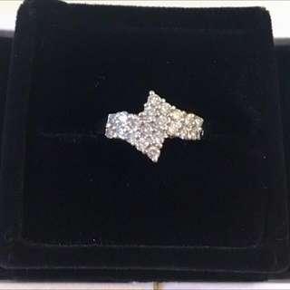 18K 750 白金 50份 半卡 鑽石 戒指 💍diamond ring