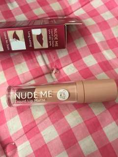 Cathydoll Nude Me Liquid Lip Matte in Burgundy Res