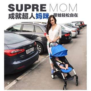 (BLUE) FREE DELIVERY COMPACT STROLLER