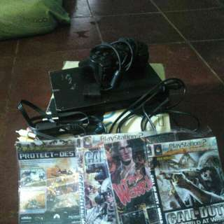 PlayStation 2 (PS2)+Kaset (-stik cuma 1)