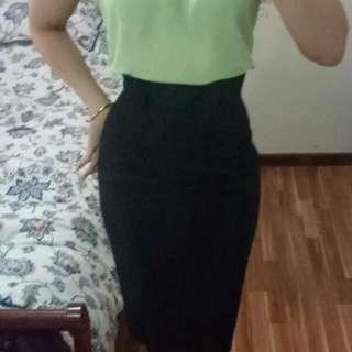 Cue black high waisted pencil skirt 6