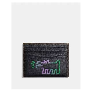 Authentic Coach X Keith Haring Card Case Black