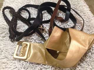 FREE belts (used) leather etc