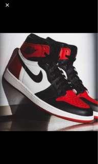 Wtb air Jordan 1 bred toe uk9