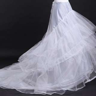 INSTOCK - Brand new a line wedding dress petticoat with train