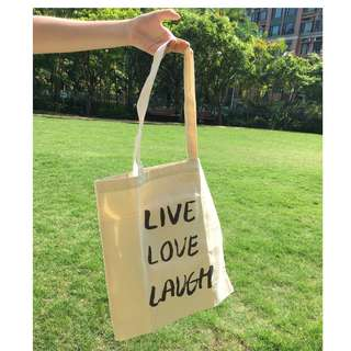 Tote bag 手提袋 (Live Love Laugh)