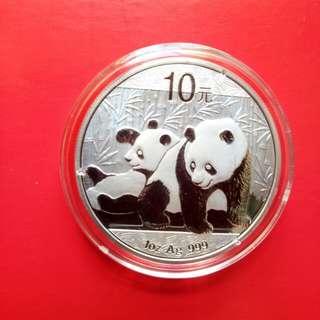 2010年1安士熊貓銀幣