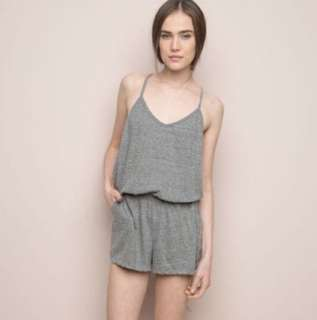 FCFS: authentic brandy melville grey joyce romper