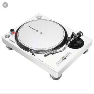 PIONEER PLX-500 PROFESSIONAL TURNTABLE, WHITE