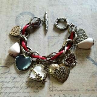 Juicy Couture Charm Bracelet (Hearts)