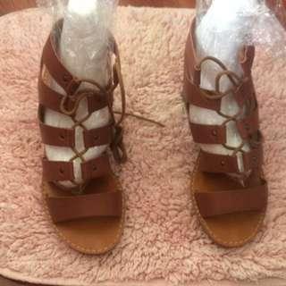 Bohemian block heels