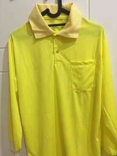 Polo shirt panjang kuning