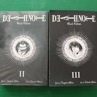 Deathnote Black edition 2 and 3