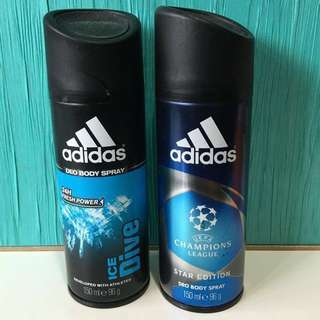 Adidas deo body spray Ice Dive & Star Edition