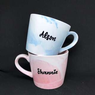 Customized marble mugs