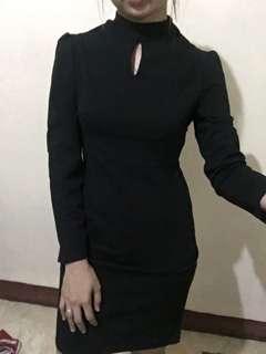 Black dress office attire