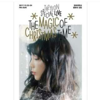 TAEYEON concert DVD 泰妍 The magic of Christmas time💕