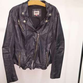 Vegan Leather Jacket Large