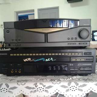 KENWOOD SORROUND RECEIVER  R-V300 AND KENWOOD LVD-K590V GOOD QUALLITY AND STILL IN GOOD CINDITION