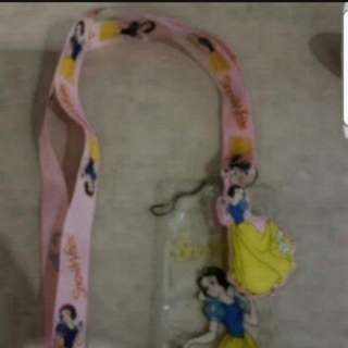 In Stock Snow White Lanyard With Card Slot