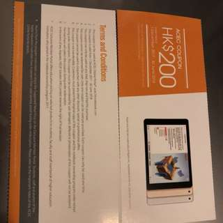 ACEC coupon hk$200 for iPad
