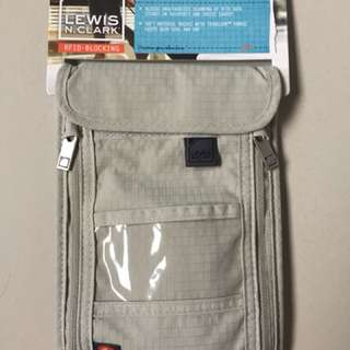 Original Lewis N Clark Neck Passport travel Wallet