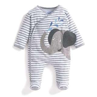 LN Jojo Mon Bebe Elephant Applique Sleepsuit (0-3months)