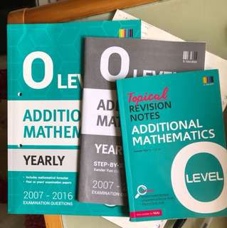O LEVEL ADDITIONAL MATHEMATICS TYS BuNDLE