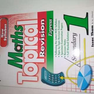 Secondary 1 Maths Assessment book