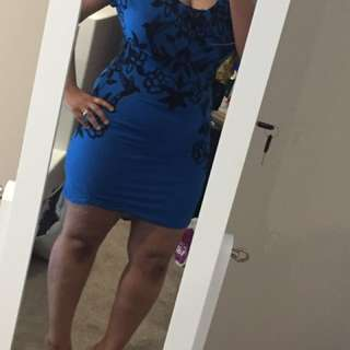 New blue black dress
