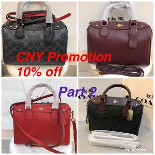 Original coach women cny Sales Kate Spade Micheal Kors Guess bonia furla