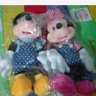 迪士尼 米奇 米妮 玩偶娃娃