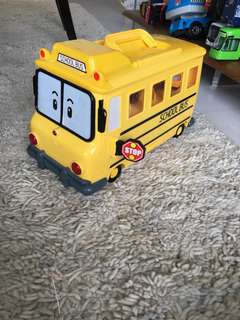 School Bus which can house other small cars