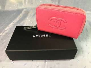 Chanel 深粉紅色散紙包/小銀包