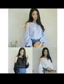 FINKA BLOUSE BAHAN TWISCONE FIT TO L