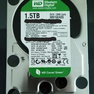 WD 1.5T hard disk