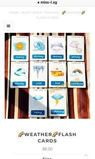 🙂 🌈WEATHER🌈FLASH CARDS