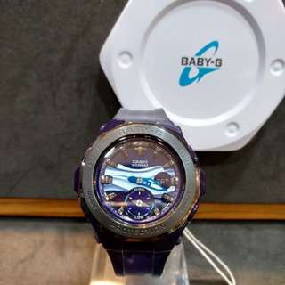 * FREE DELIVERY * Brand New 100% Authentic Casio BabyG Dark Blue Metal Bezel Baby G Ladies Watch Baby-G BGA220B 2 BGA220B-2ADR