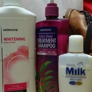 REPRICED! HURRY!! Watsons bundle 100php only! with free whitening lotion