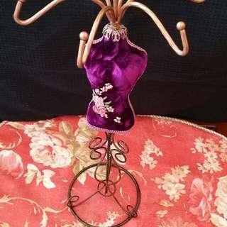 仿古中國風傳統旗袍手飾架