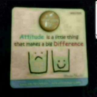 Instock Power Of Postivity Attitude Quote Magnet Desktop Display By Sunny Side Up Creation