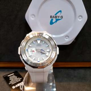 * FREE DELIVERY * Brand New 100% Authentic Casio BabyG Steel Bezel & Pearl Dial Baby G Ladies Watch Baby-G BGA225 7 BGA225-7ADR